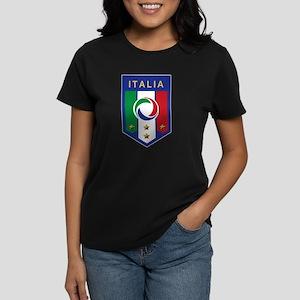 Italian Soccer emblem Women's Dark T-Shirt