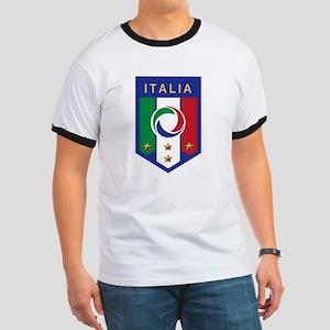 Italian Soccer emblem Ringer T