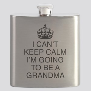 I Can't Keep Calm I'm Going To Be A Grandma Flask