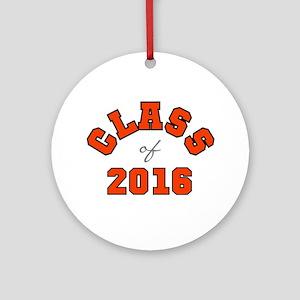 Class of 2016 Orange Round Ornament