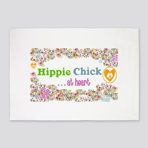 Hippie Chick At Heart 5'x7'area Rug