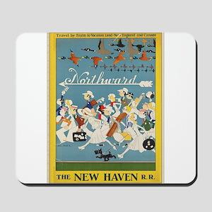 Vintage poster - New Haven Railroad Mousepad