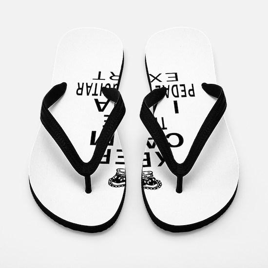 I Am Pedal Steel Guitar Expert Flip Flops
