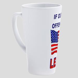 AMERICAN FLAG 17 oz Latte Mug