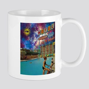 Motel Outerspace Trippy Psychedelic Surreal 1 Mugs