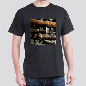 Rusty Old Nuts and Bolts Dark T-Shirt