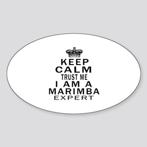 I Am Marimba Expert Sticker (Oval)