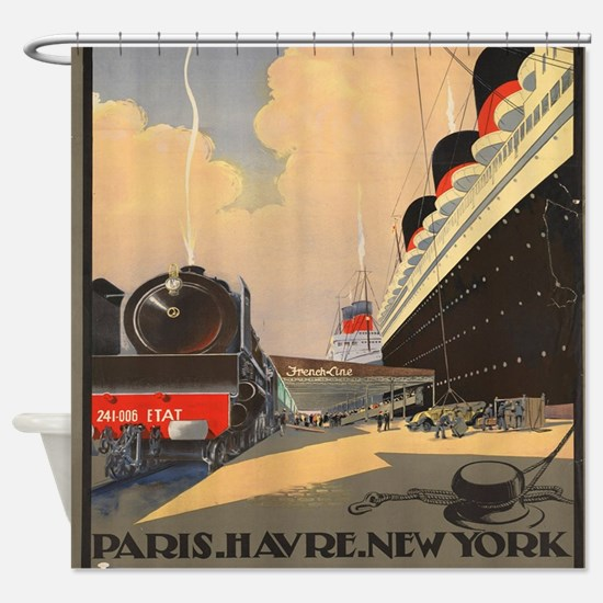 Cute Ships Shower Curtain