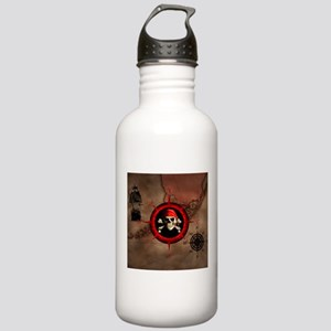 Pirate Compass Rose And Map Water Bottle