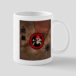 Pirate Compass Rose And Map Mugs