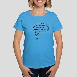 Two Kicks Women's Dark T-Shirt