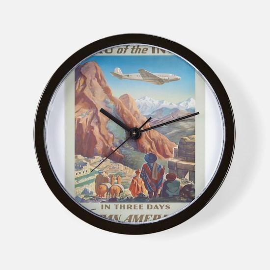 Vintage poster - Peru Wall Clock