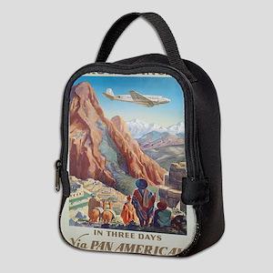 Vintage poster - Peru Neoprene Lunch Bag