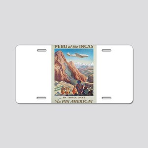 Vintage poster - Peru Aluminum License Plate