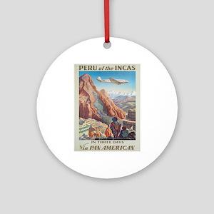 Vintage poster - Peru Round Ornament