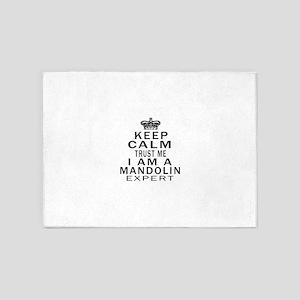 I Am Mandolin Expert 5'x7'Area Rug