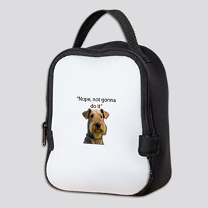 Airedale Terrier Stubborn Sayings Neoprene Lunch B