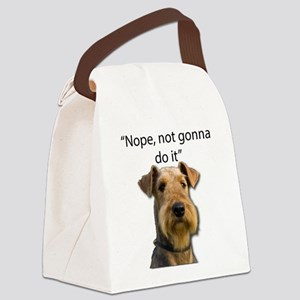 Airedale Terrier Stubborn Sayings Canvas Lunch Bag