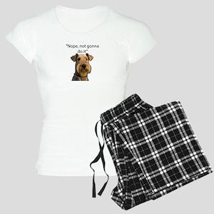 Airedale Terrier Stubborn Sayings Pajamas
