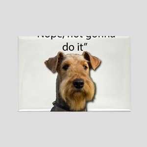 Airedale Terrier Stubborn Sayings Magnets