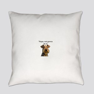Airedale Terrier Stubborn Sayings Everyday Pillow