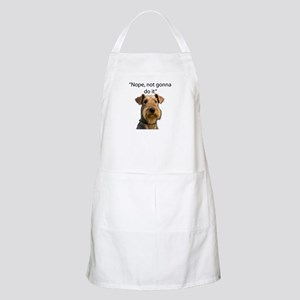 Airedale Terrier Stubborn Sayings Apron