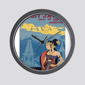Vintage poster - Java Wall Clock