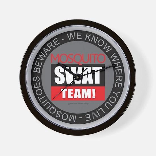 Mosquito Swat Team Wall Clock