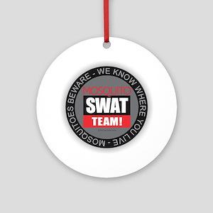 Mosquito Swat Team Round Ornament