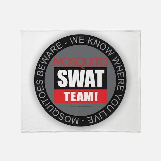 Mosquito Swat Team Throw Blanket
