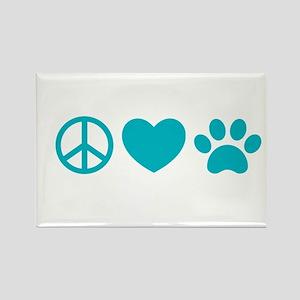 Peace, Love, Pets Magnets
