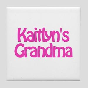 Kaitlyn's Grandma Tile Coaster
