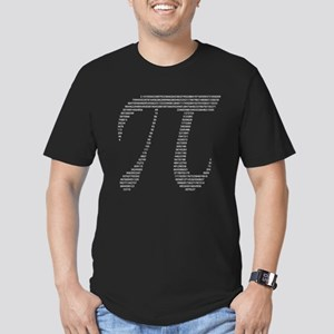 Pi Symbol w/ Numbers Men's Fitted T-Shirt (dark)