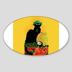 Chat Noir St Patricks Day Sticker