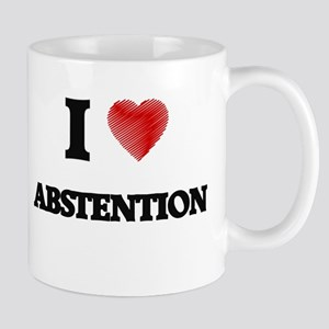 I Love ABSTENTION Mugs
