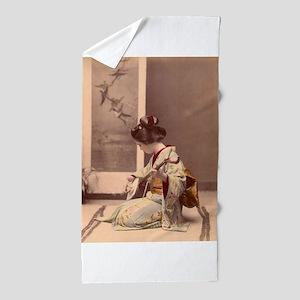 Tokyo - Japanese Vintage Poster - Japa Beach Towel