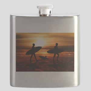 Sunset Surfers Flask