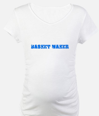 Basket Maker Blue Bold Design Shirt