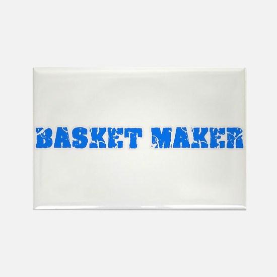 Basket Maker Blue Bold Design Magnets