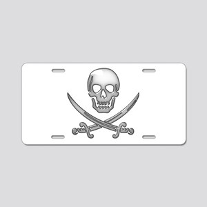 Pirate Day - Skull and Cros Aluminum License Plate