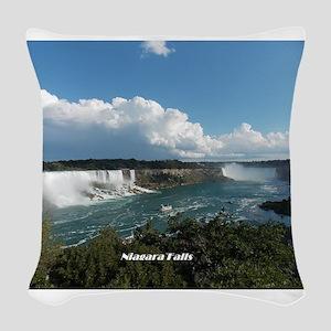 Niagara Falls1 Woven Throw Pillow