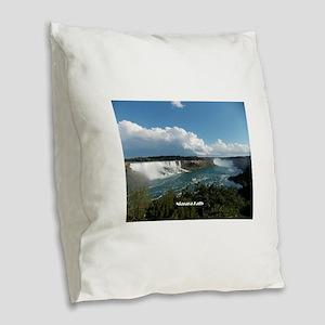 Niagara Falls1 Burlap Throw Pillow