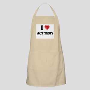 I Love ACT TESTS Apron