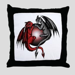 Universe Dragons Throw Pillow