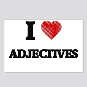 I Love ADJECTIVES Postcards (Package of 8)