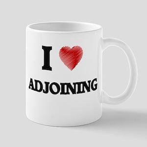 I Love ADJOINING Mugs
