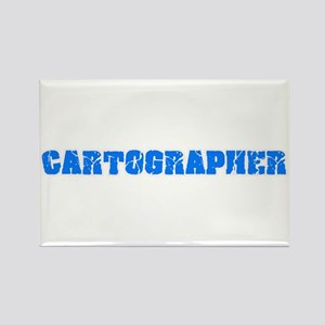 Cartographer Blue Bold Design Magnets