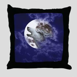Moon Wolf ~ Throw Pillow