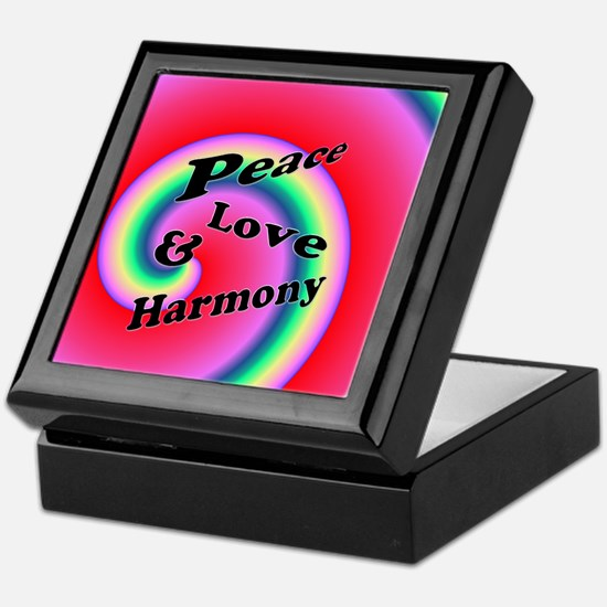 Love Peace & Harmony Swirl Keepsake Box