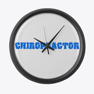 Chiropractor Blue Bold Design Large Wall Clock